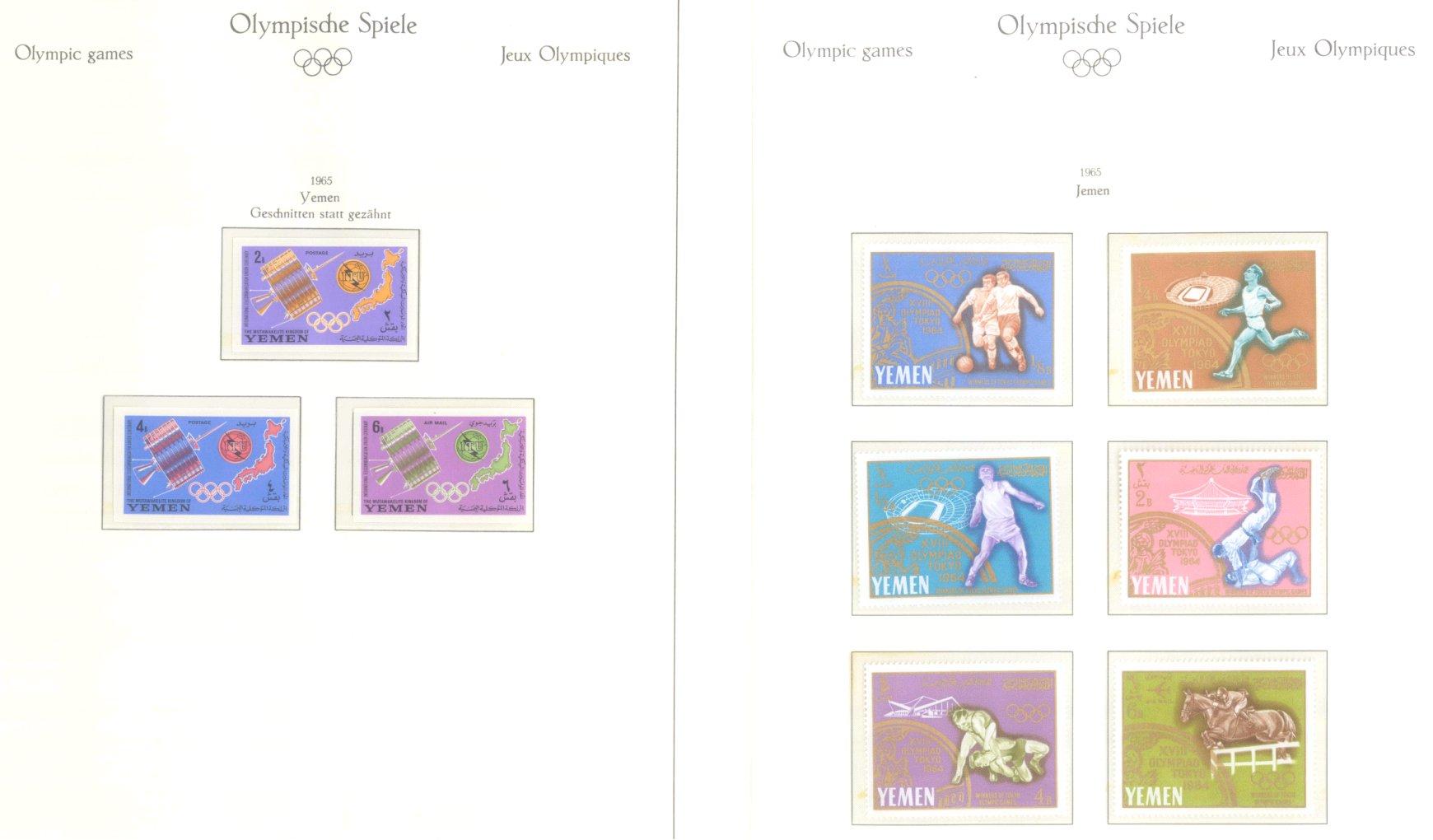 OLYMPISCHE SPIELE 1964 TOKIO, postfrische Sammlung Teil 2-62