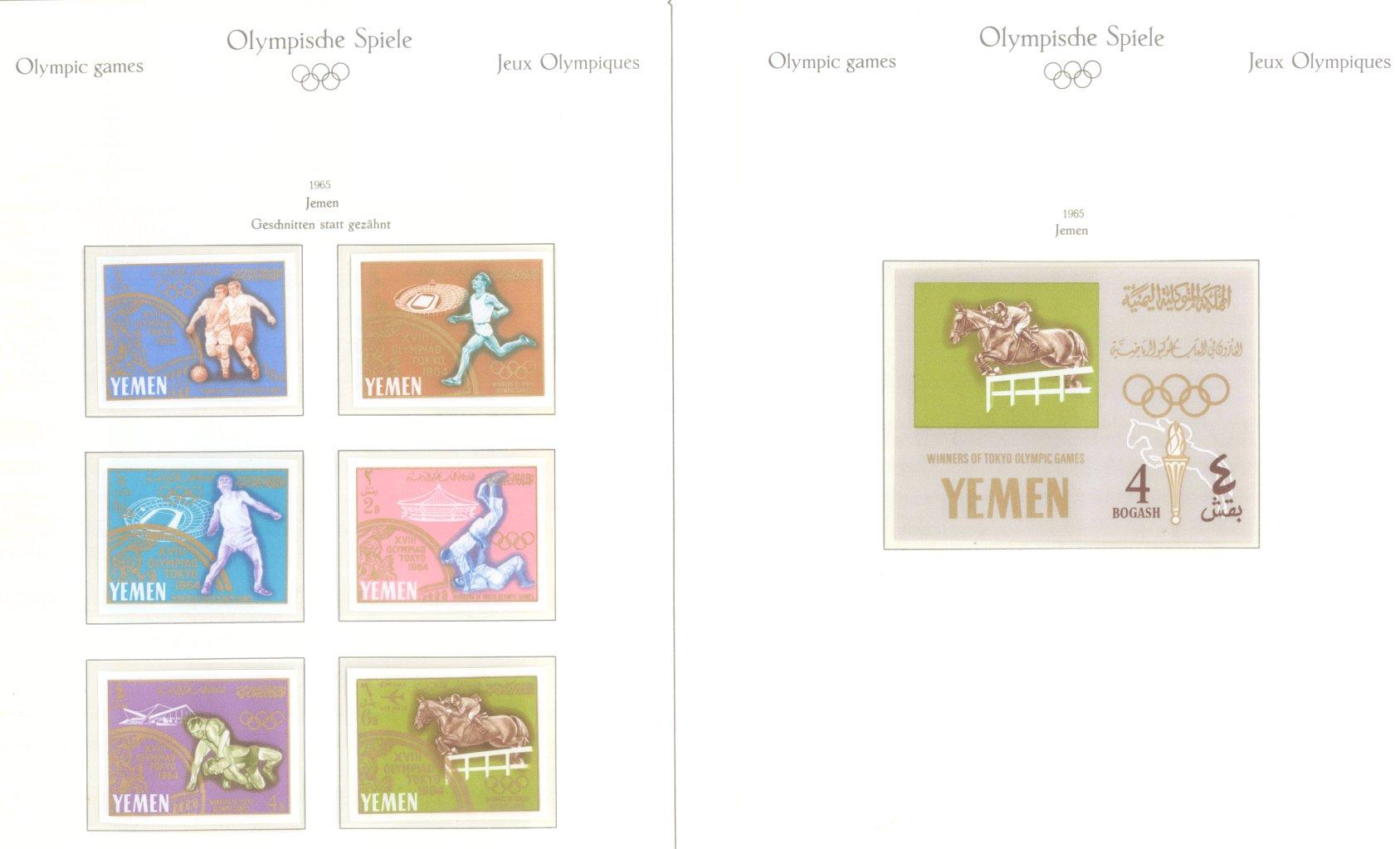 OLYMPISCHE SPIELE 1964 TOKIO, postfrische Sammlung Teil 2-63