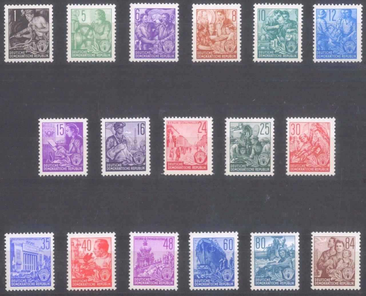 DDR 1953, Fünfjahrplan, Offsetdruck