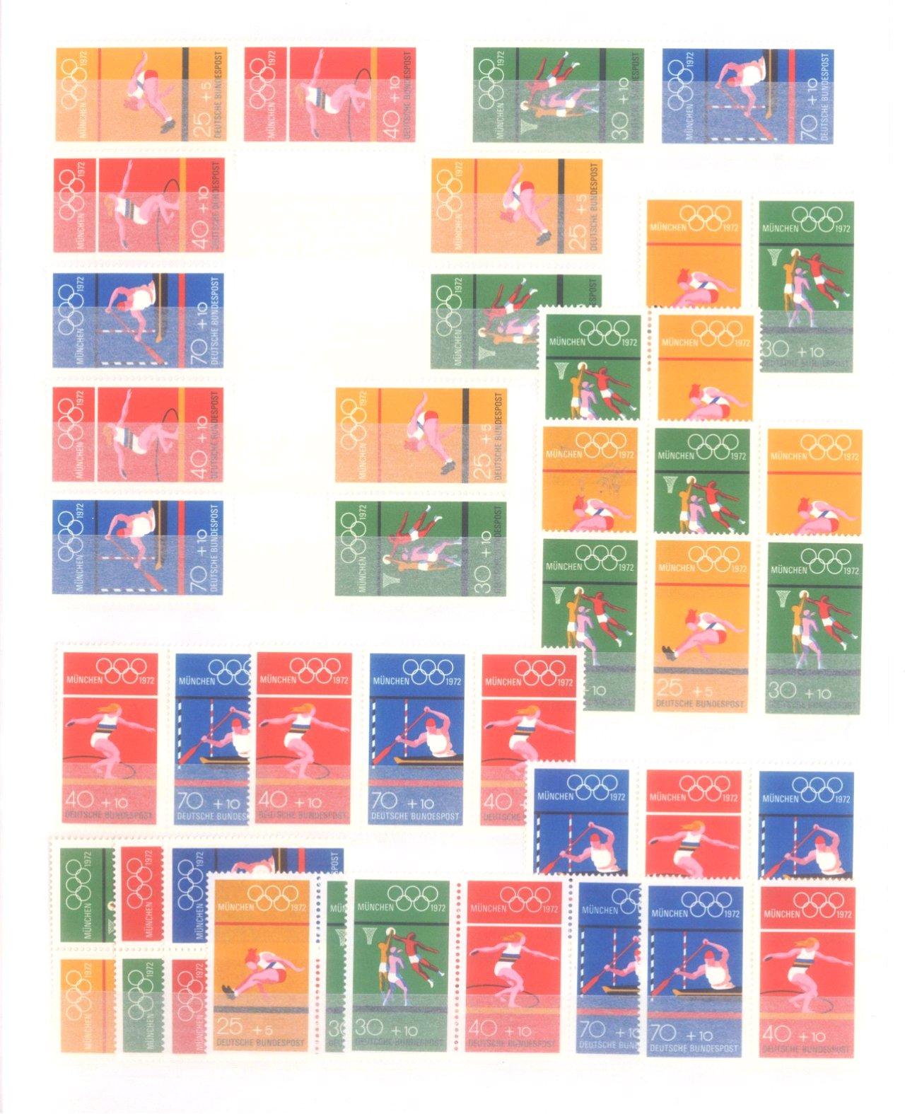 BUND 1972 Olympiade – Zusammendrucke