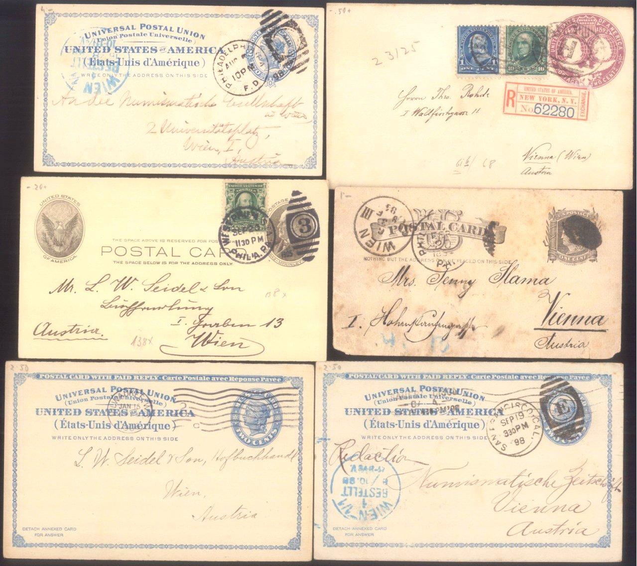 USA 1884-1906 Belegeposten