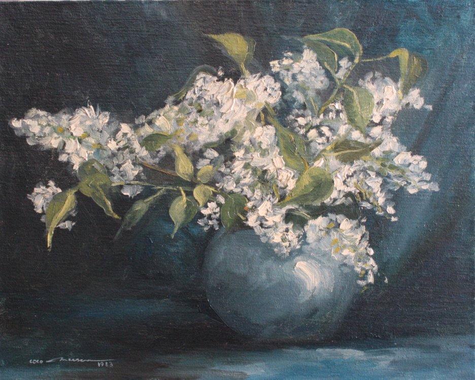 Stilleben, Blumenvase, 1983
