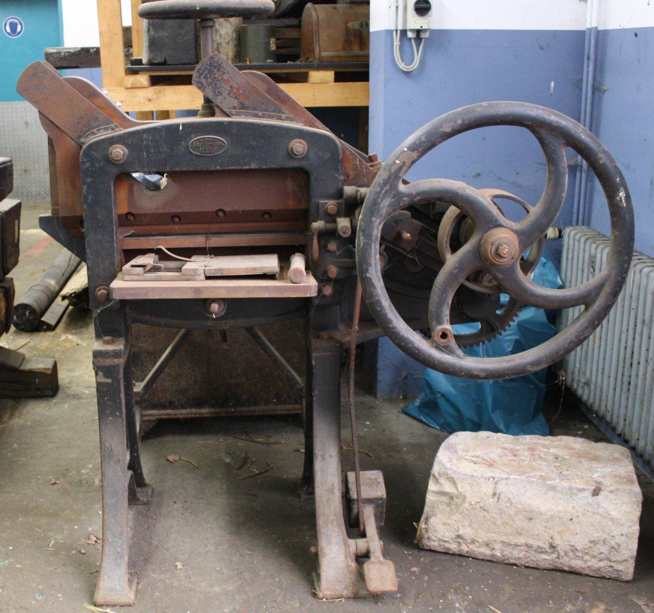 Blechschneidemaschine Marke Karl Krause Leipzig
