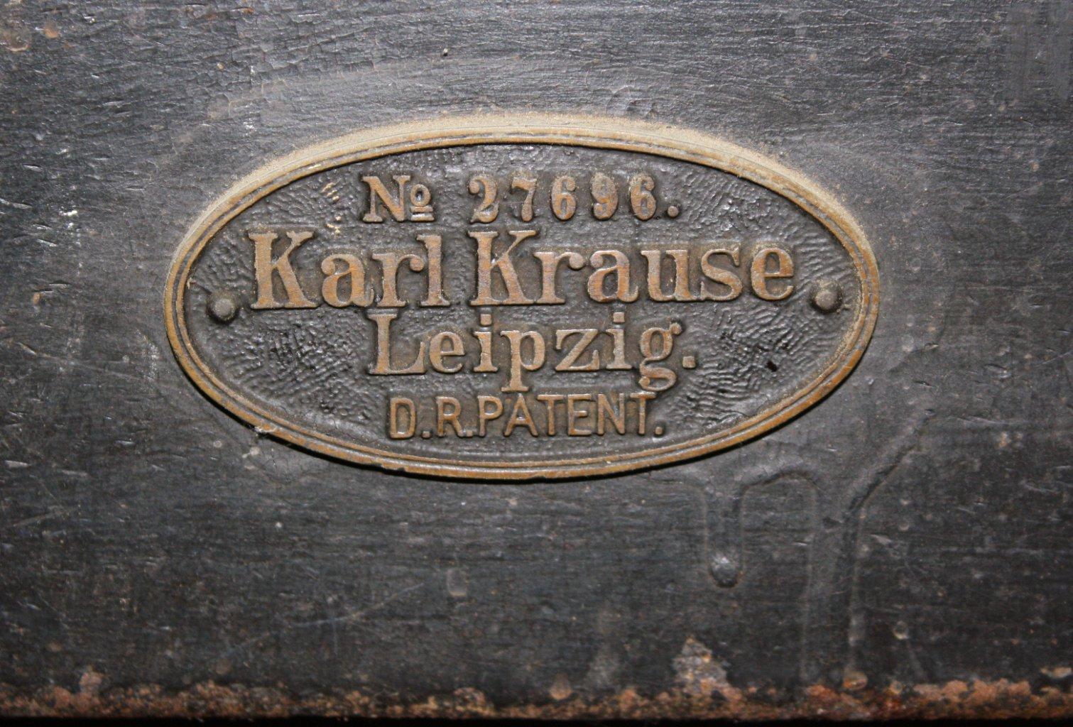Blechschneidemaschine Marke Karl Krause Leipzig-3