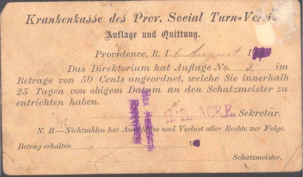USA 1880, Ganzsache mit rückseitig deutschem Text
