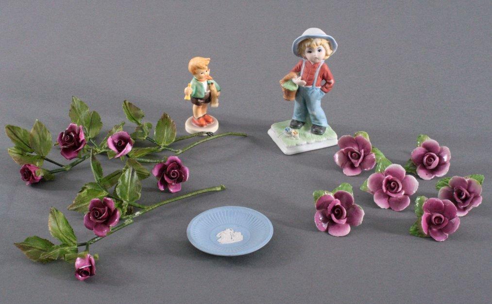 Dekofiguren und Objekte aus Porzellan, 15-Teile