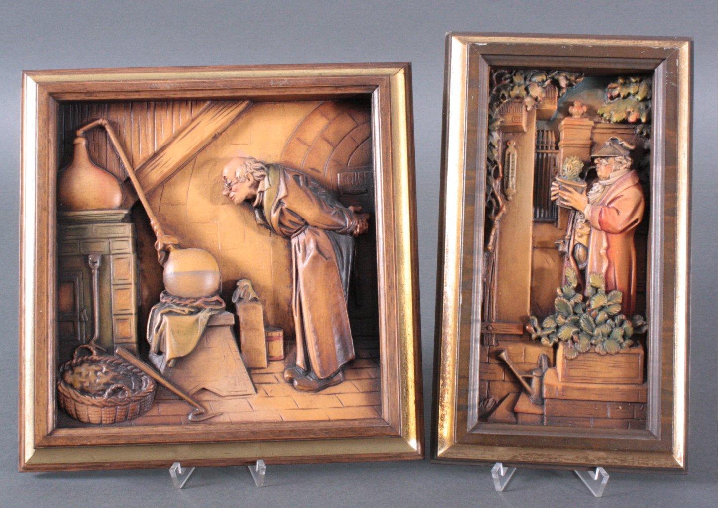 2 Holzbilder, wohl ANRI