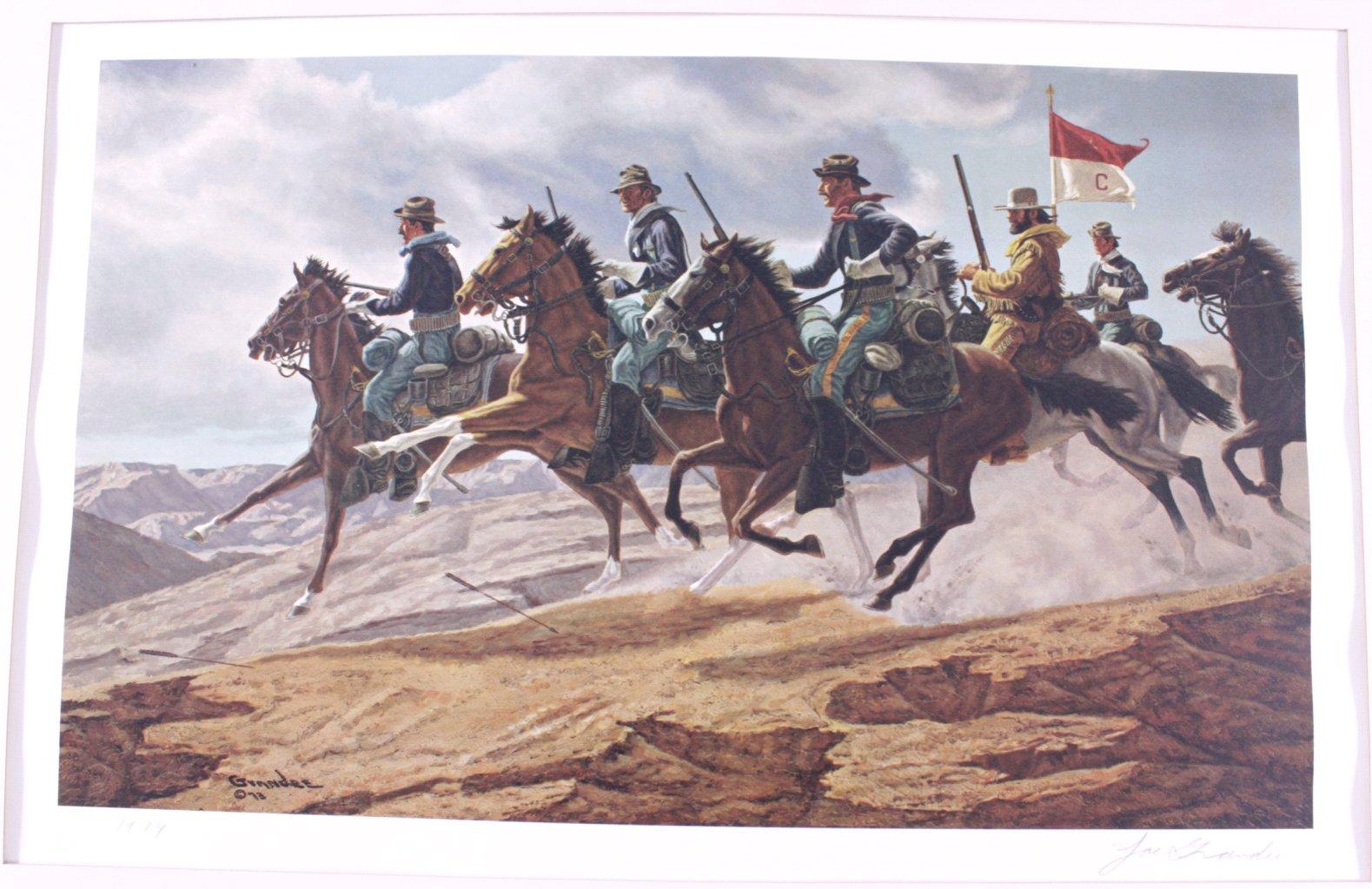 2 Lithographien, Wild West-2