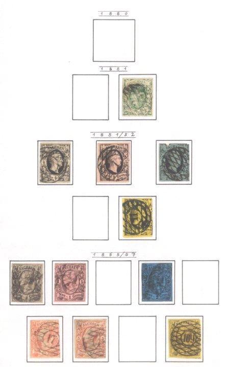 SACHSEN 1851-1867