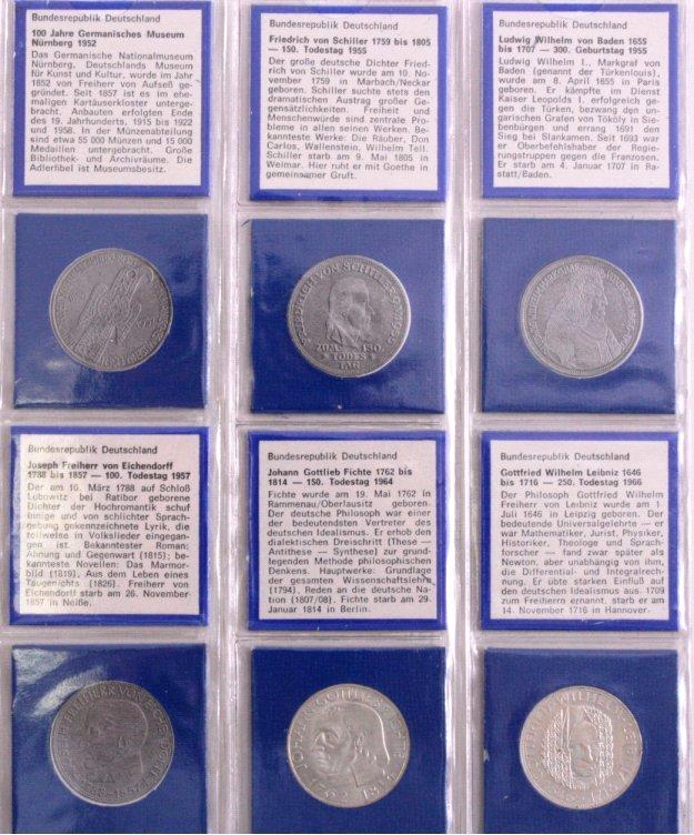 Sammlung 5 DM Münzen, u.a. Fichte-1
