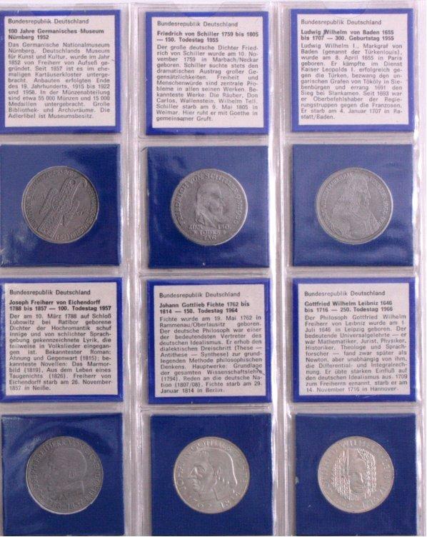 Sammlung 5 DM Münzen, u.a. Fichte-2