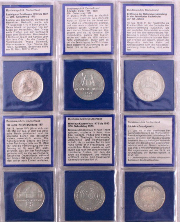Sammlung 5 DM Münzen, u.a. Fichte-3