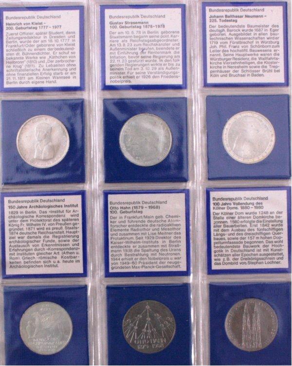 Sammlung 5 DM Münzen, u.a. Fichte-4