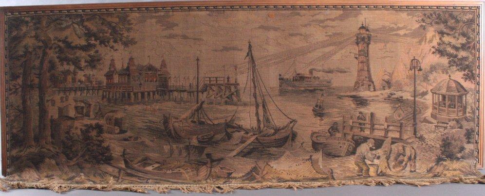 """Gobelin """"Hafen"""", um 1900"""