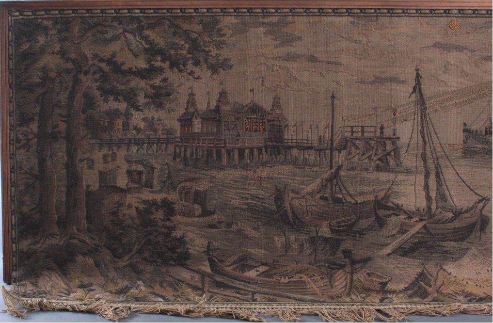 """Gobelin """"Hafen"""", um 1900-1"""