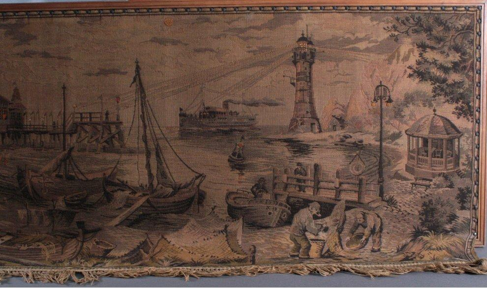 """Gobelin """"Hafen"""", um 1900-2"""