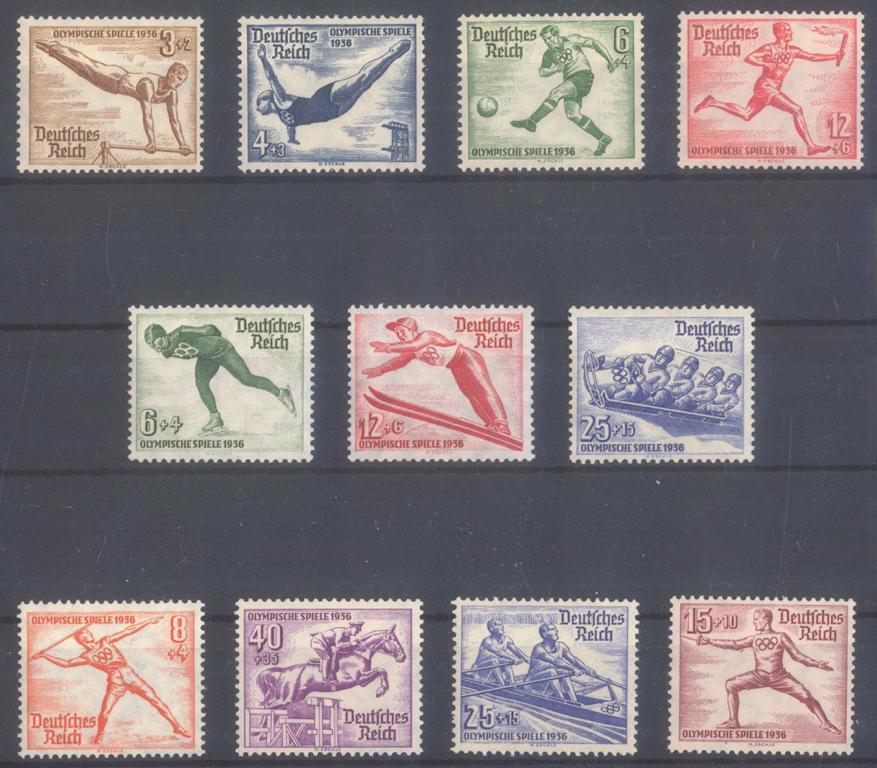 III. REICH 1935/1936, Olympiade, Katalogwert 200,- Euro