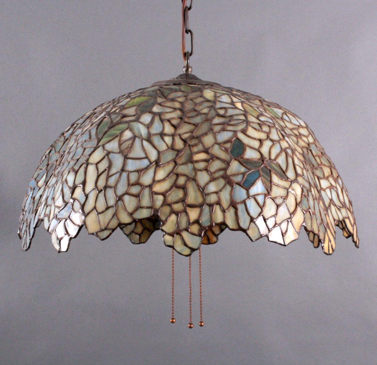 Jugendstil Deckenlampe im Tiffany Stil