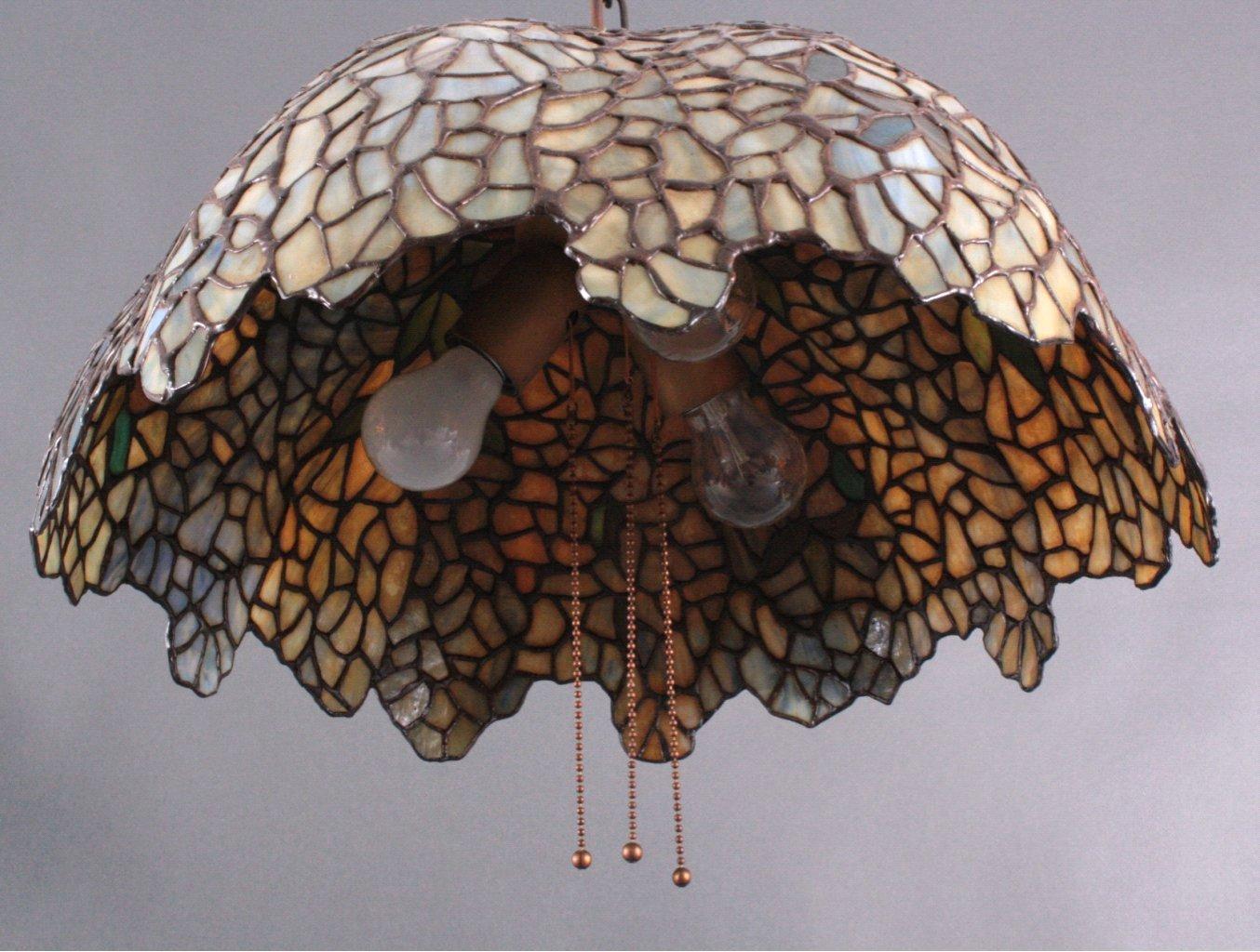 Jugendstil Deckenlampe im Tiffany Stil-1