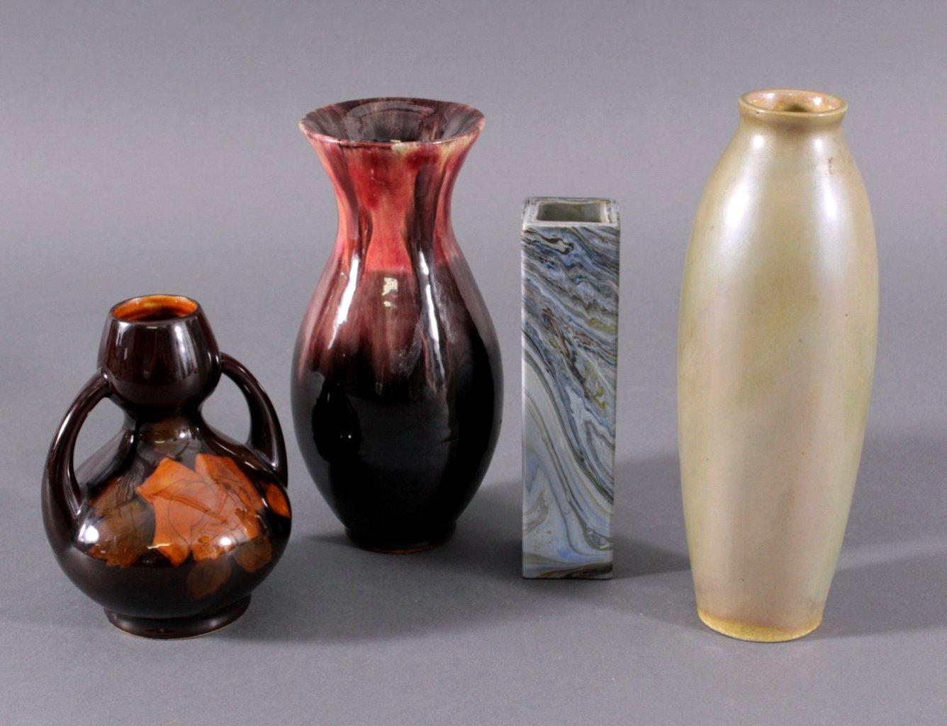 Jungendstil Vasen, 4 Stück