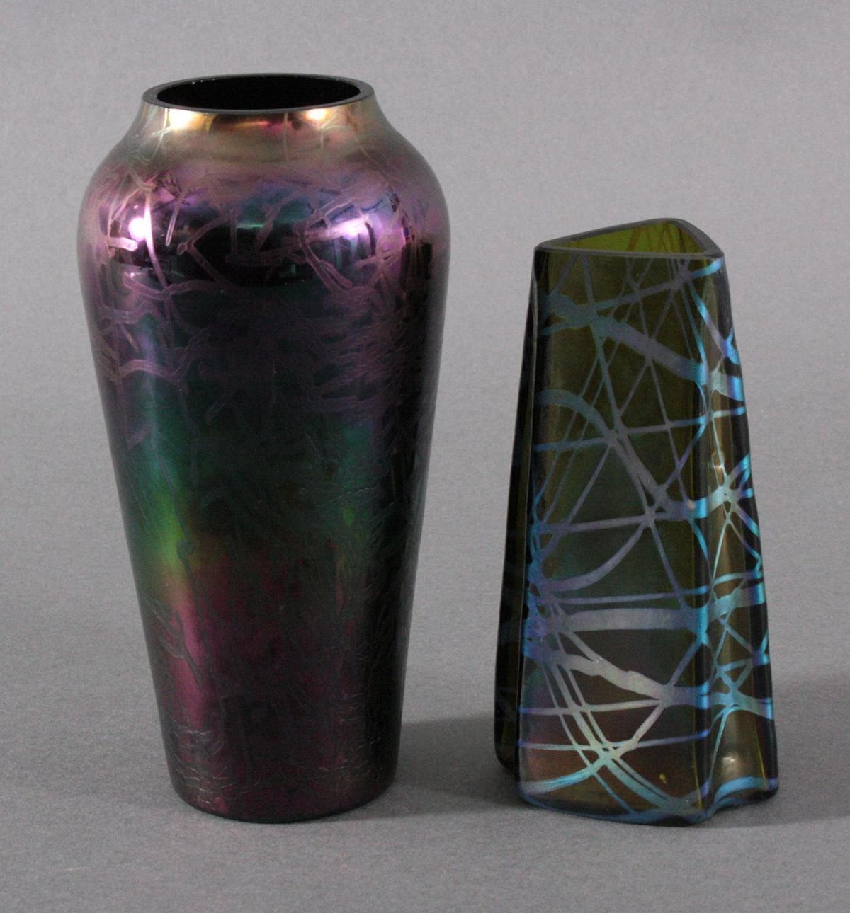2 Jugendstil-Vasen