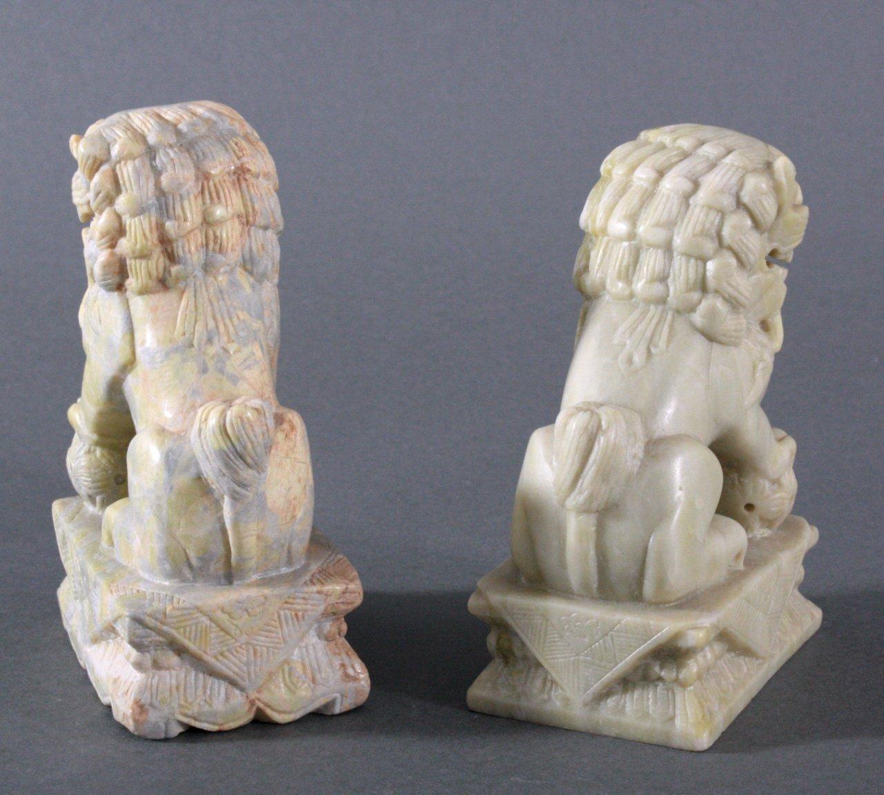Paar Jade Fo-Hunde/Wächterlöwe-1