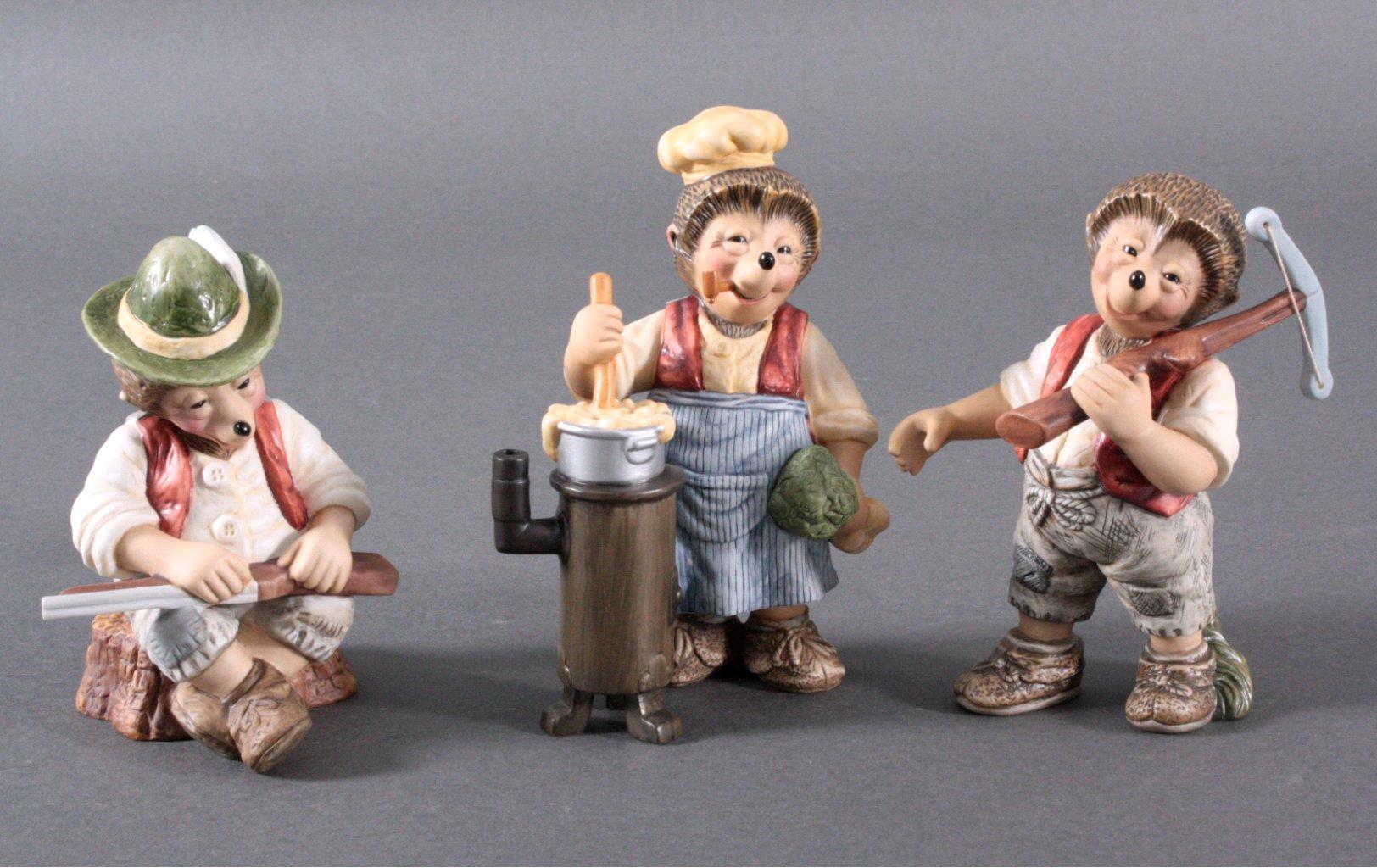3 Goebel Mecki Figuren
