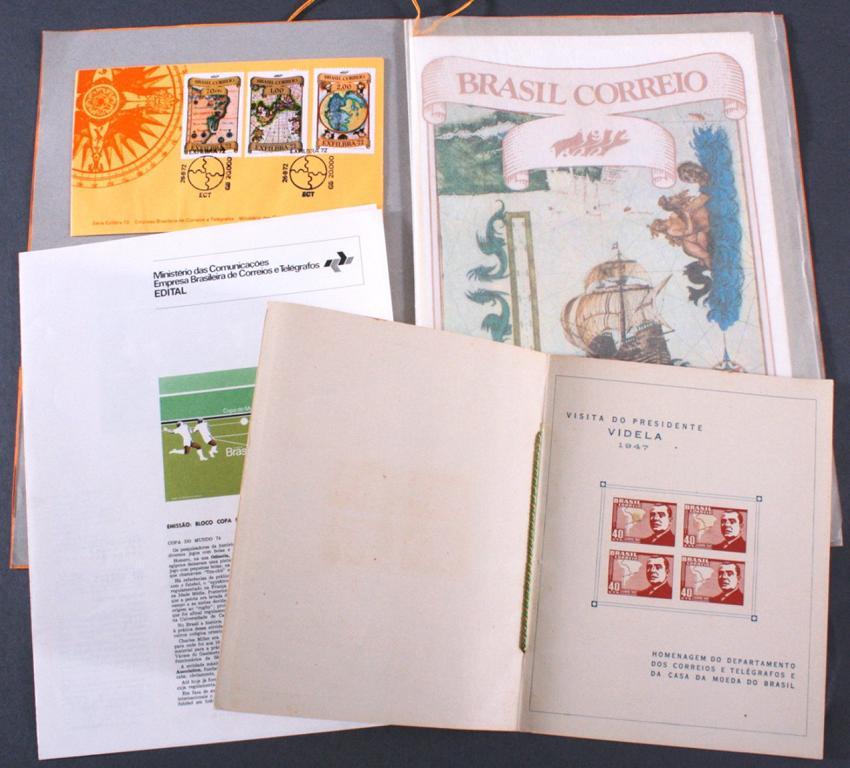 BRASILIEN 1947 seltener Sonderdruck / Ministerkarte