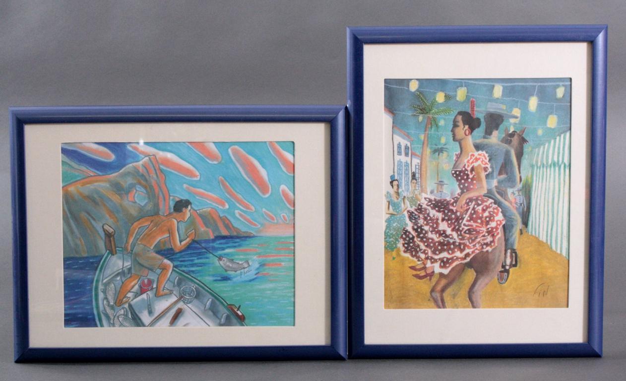 2 Lithographie. Spanischer Künstler