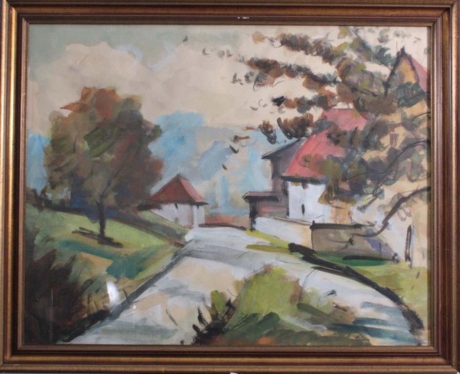 Landschaftsaquarell, Wohl Fritz Huber