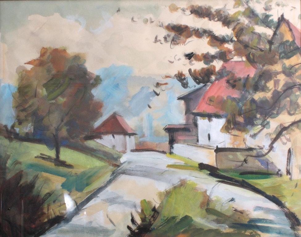 Landschaftsaquarell, Wohl Fritz Huber-1