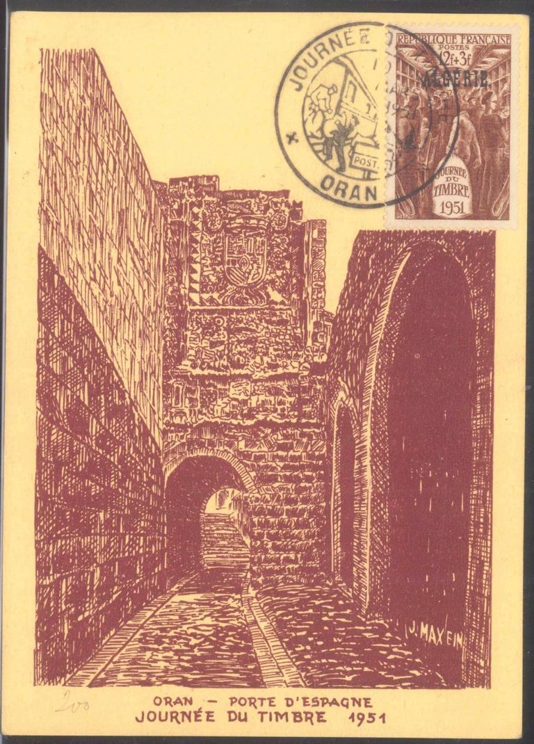 ALGERIEN 1951, ORAN, Tag der Briefmarke