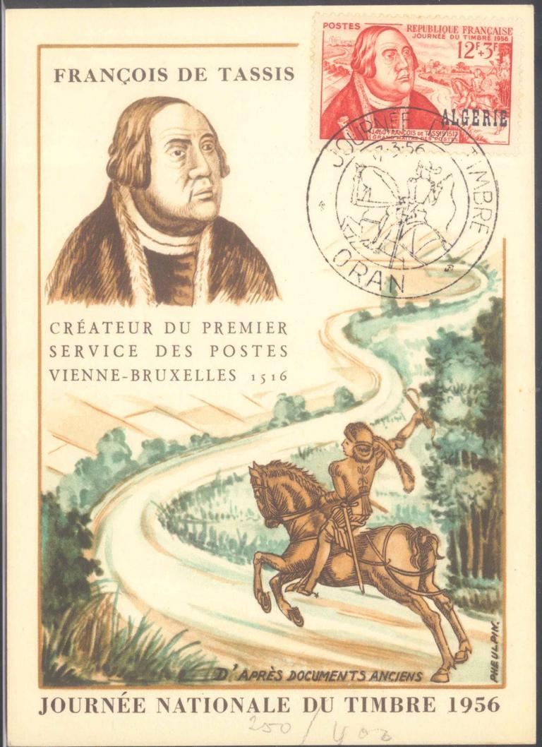 ALGERIEN 1956, ORAN, Tag der Briefmarke