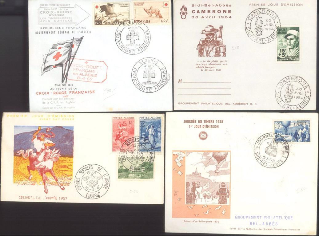 ALGERIEN 1954-1957, auch Motive Rotes Kreuz, Tiere