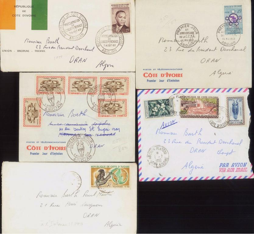 ALGERIEN / ELFENBEINKÜSTE 1960-1961