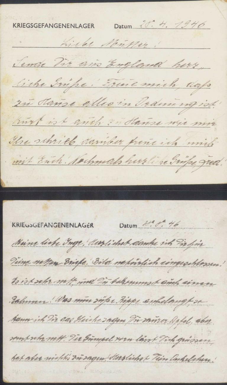 KRIEGSGEFANGENENLAGERPOST II. Weltkrieg CAMP POW 73-1