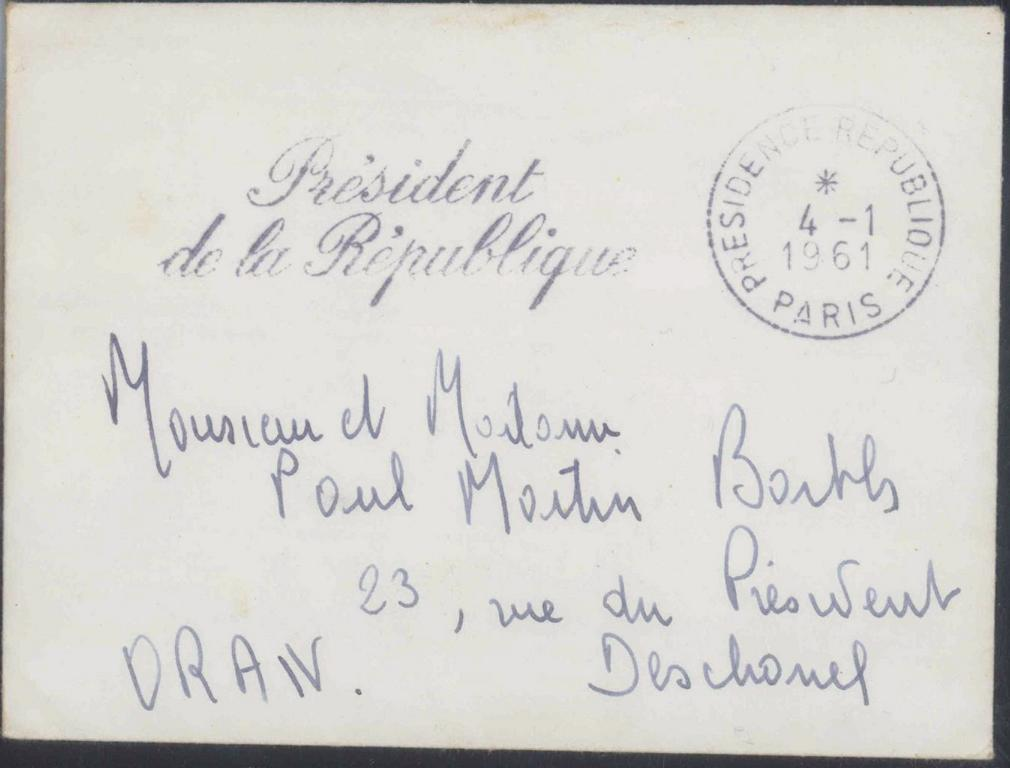 ALGERIEN, PRESIDENT DE LA REPUBLIQUE 1961, ALGERIENKRIEG