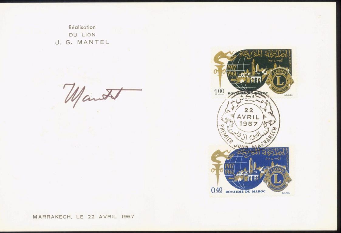 MOTIV LIONS CLUB seltene Karte – Unterschrift J.G. MANTEL-1