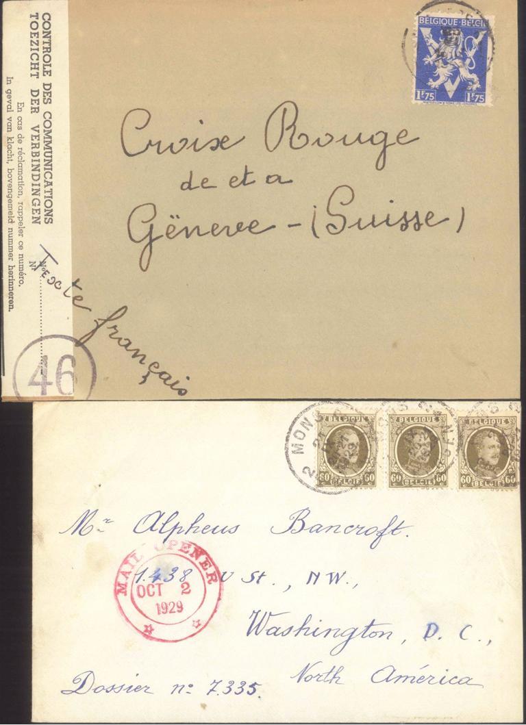 BELGIEN 1929/1943