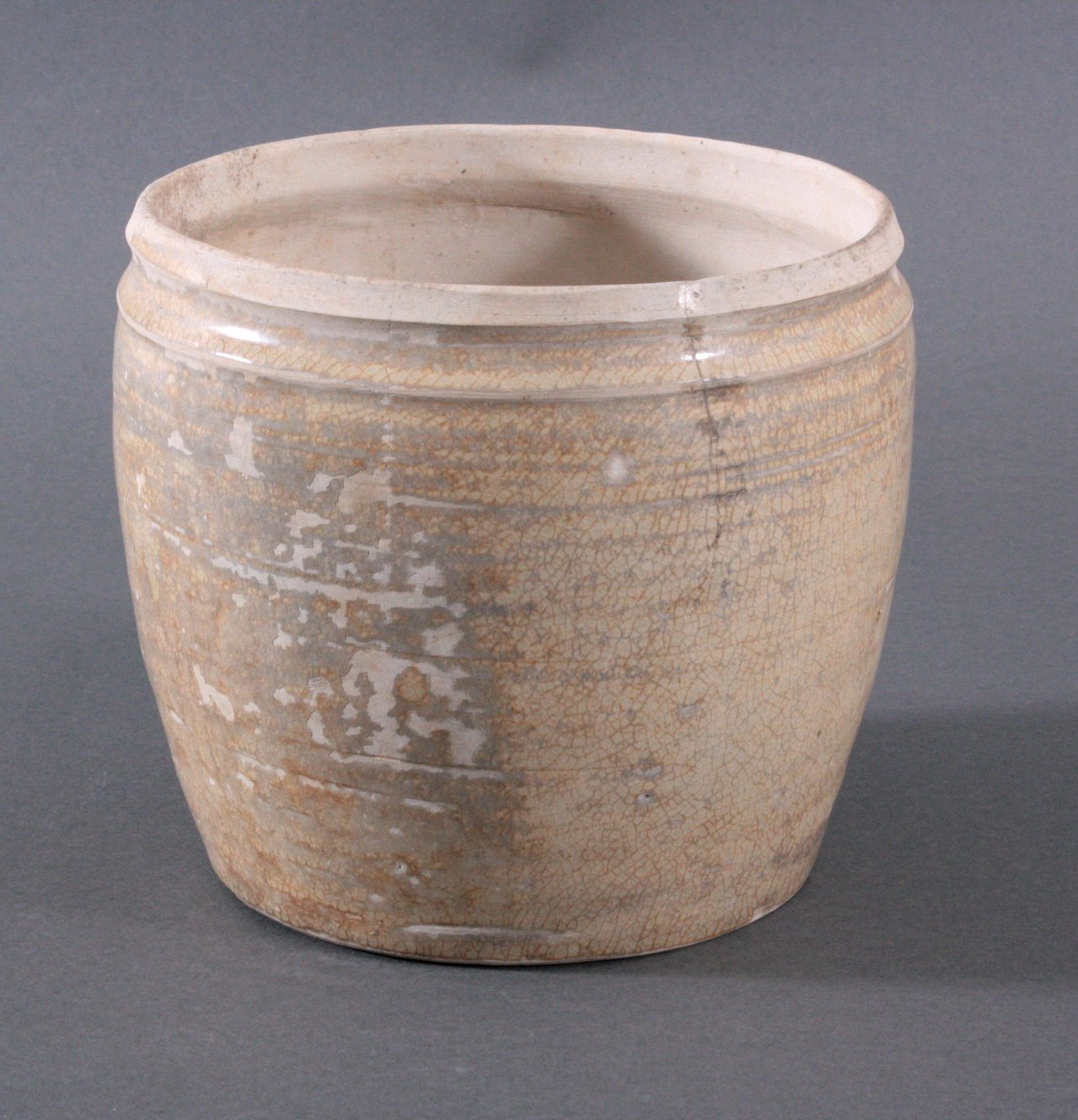 Rundes Vorratsgefäße, Angkor-Periode 12./13. Jh.