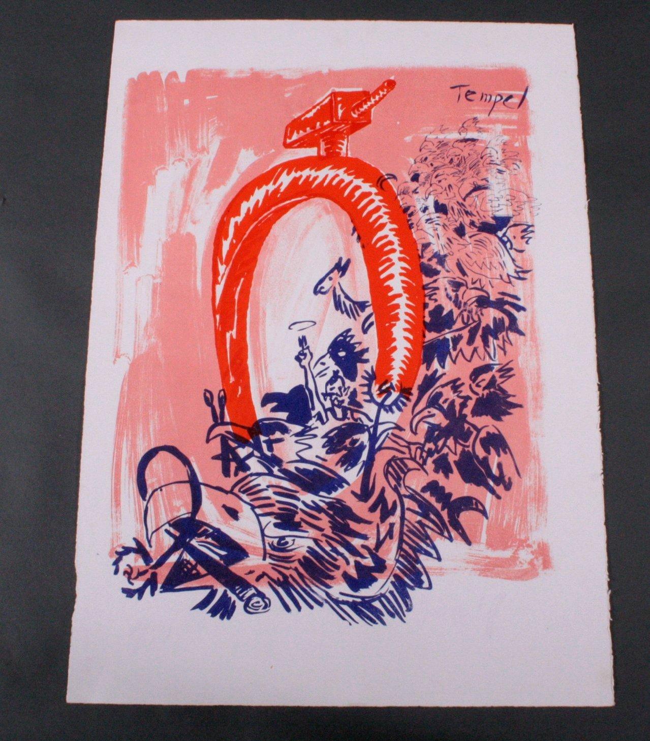 """A.R. Penck (1939) """"Tempel"""""""