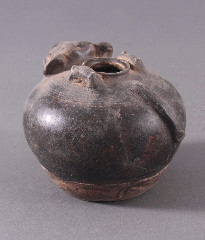 Rundes Vorratsgefäß, Angkor-Periode 12./13. Jahrhundert-2