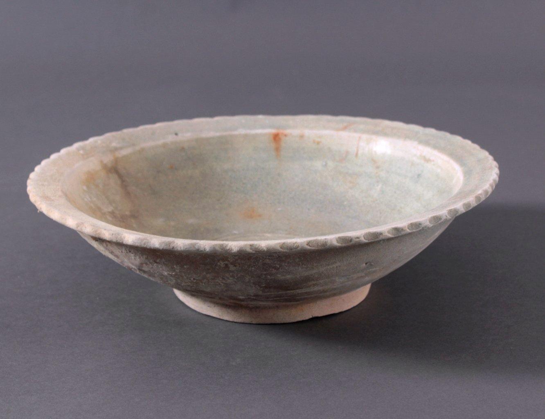 Runde Anbietschale, Angkor-Periode 12./13. Jahrhundert-1