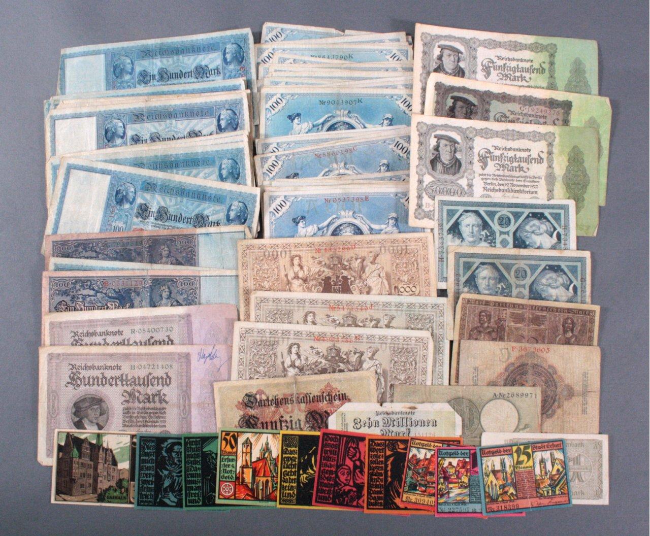 Konvolut Banknoten