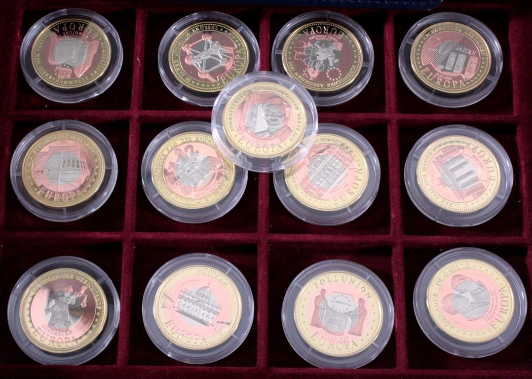 Medaillen, Die Europäische Union in Trimetall-1