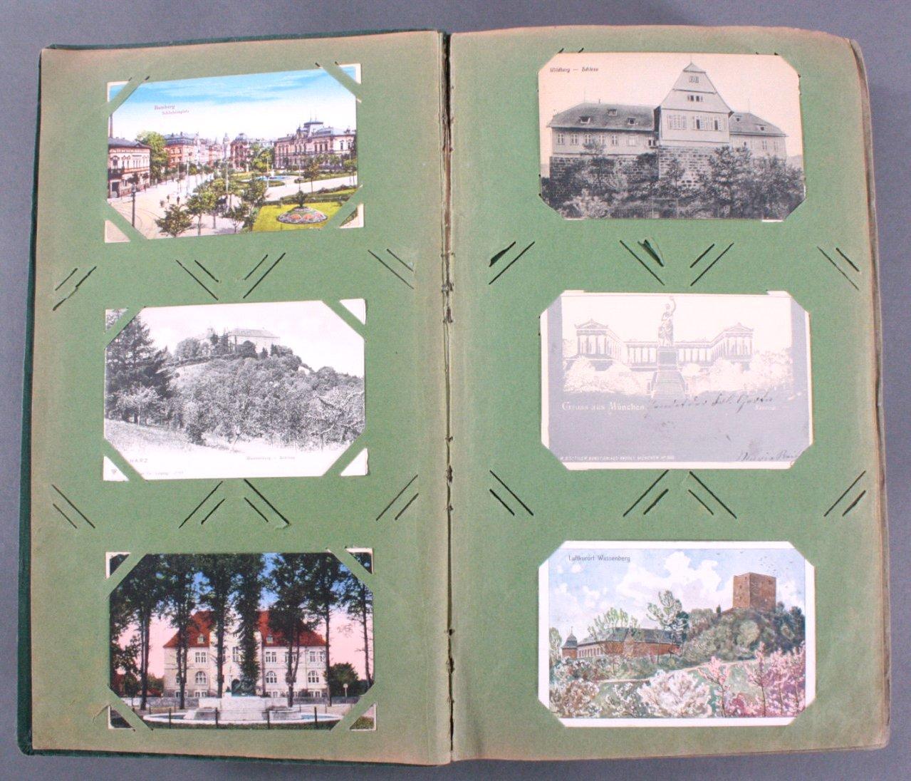 Prall gefülltes Album mit ca. 390 Postkarten-1