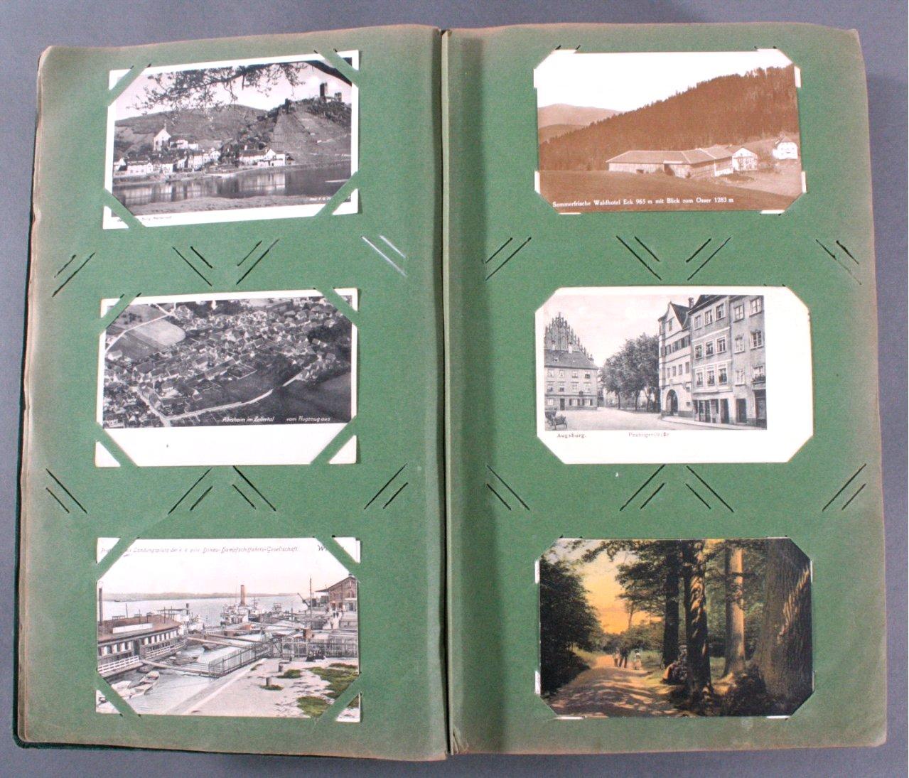 Prall gefülltes Album mit ca. 390 Postkarten-3
