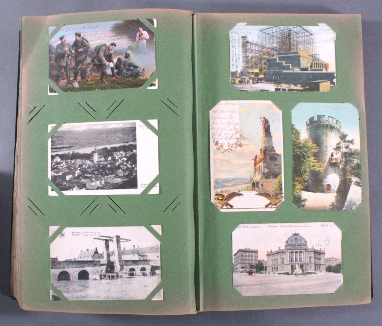 Prall gefülltes Album mit ca. 390 Postkarten-11