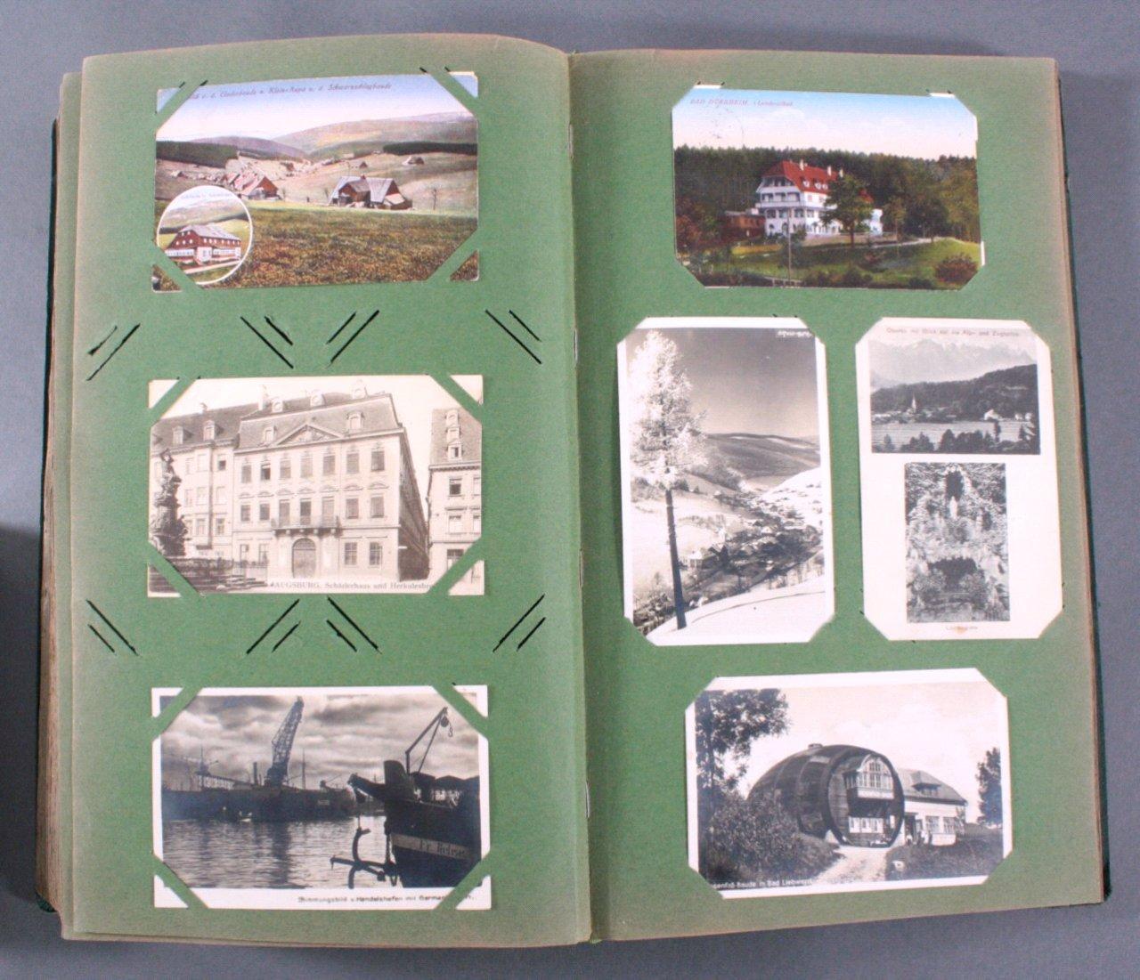 Prall gefülltes Album mit ca. 390 Postkarten-13