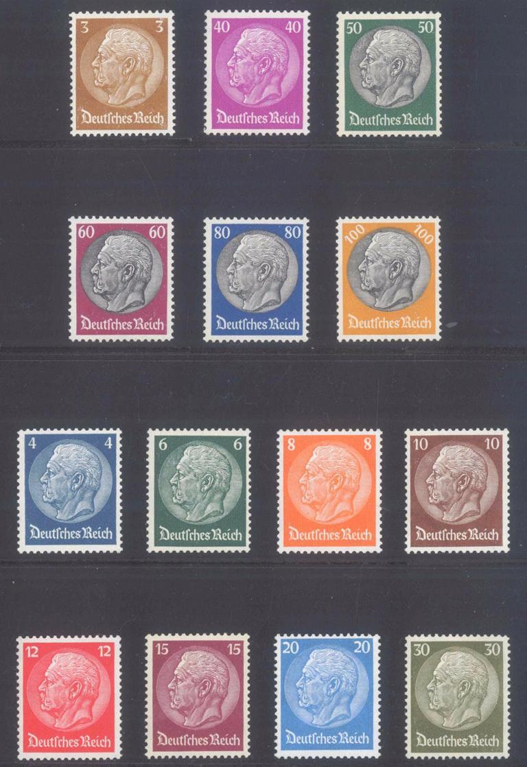 III. Reich 1933, Hindenburg, Wasserzeichen Waffeln